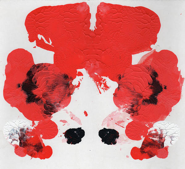 Painting - Ink Blot Red Aka Carrot Top by Erik Paul
