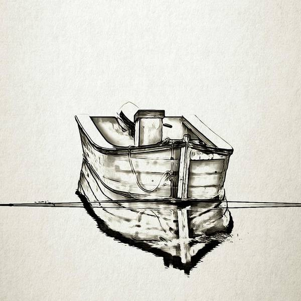 Photograph - Ink Boat by Tatiana Travelways