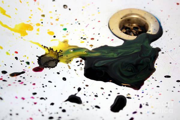 Photograph - Ink Splash by Balanced Art