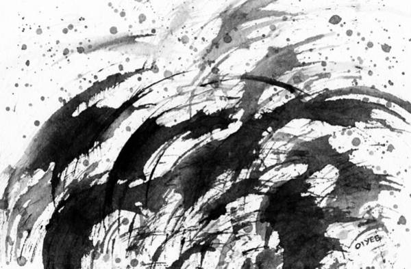 Painting - Ink Waves by Oiyee At Oystudio