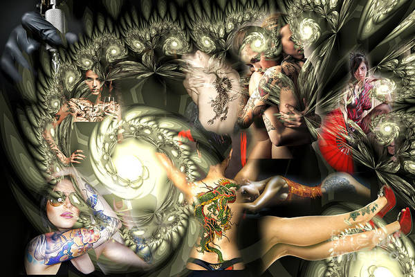 Photograph - Inked Angels by John Rizzuto