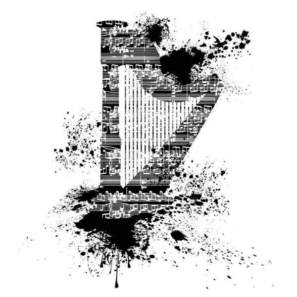 Digital Art - Inked Harp by Barbara St Jean