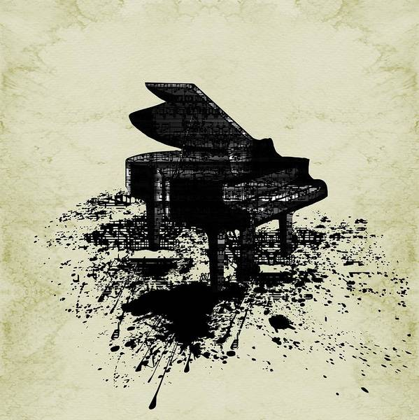 Digital Art - Inked Piano Sepia by Barbara St Jean