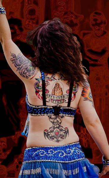 Belly Dancers Photograph - Inked Prayer by DigiArt Diaries by Vicky B Fuller