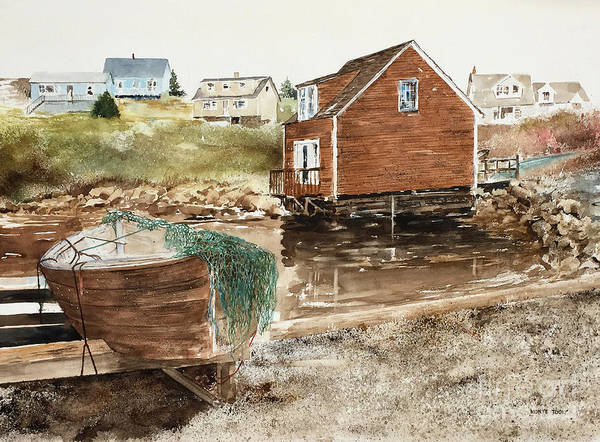 Painting - Inlet At Peggy's Cove by Monte Toon