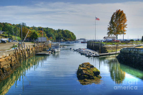 Photograph - Inlet At Rockport Maine by David Birchall