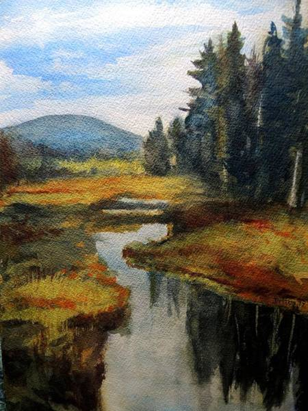 Wall Art - Painting - Inlet In Indian Lake by Chrissey Dittus