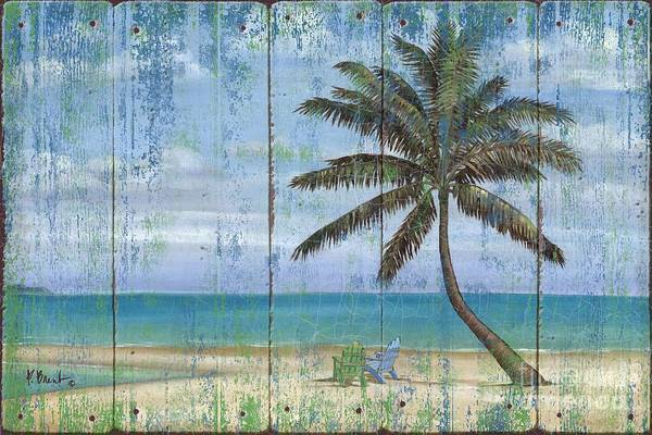 Palm Wall Art - Painting - Inlet Palm - Distressed by Paul Brent