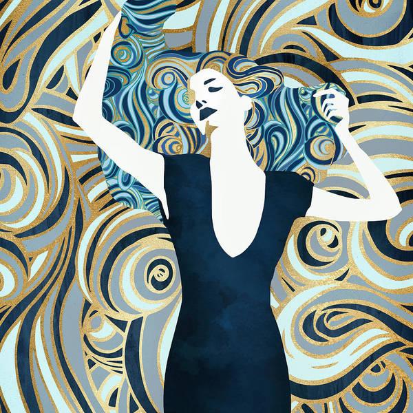 Fluid Digital Art - Inner Beauty IIi by Spacefrog Designs