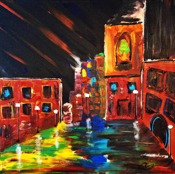 Interior Wall Art - Painting - Inner City II by Mac Worthington
