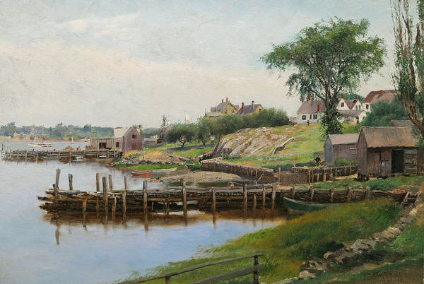 Wall Art - Painting - Inner Harbor, by George Albert Frost