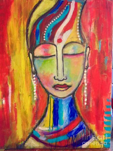 Art Print featuring the mixed media Inner Peace  by Corina Stupu Thomas