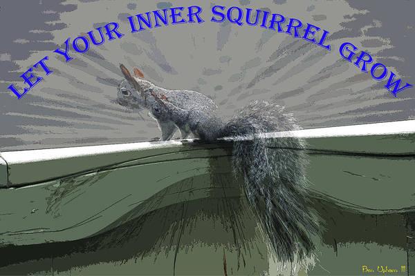 Photograph - Inner Squirrel Art #1 by Ben Upham III