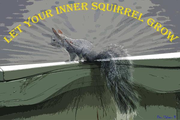 Photograph - Inner Squirrel Art #2 by Ben Upham III