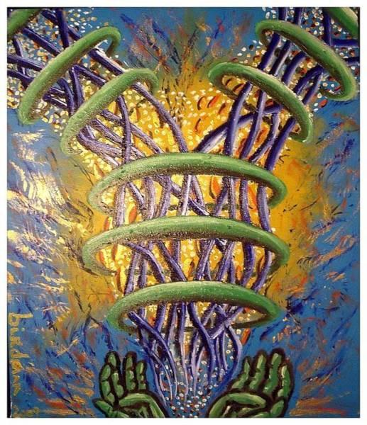 Birdman Painting - Inner Twining Flow by Steve Weber