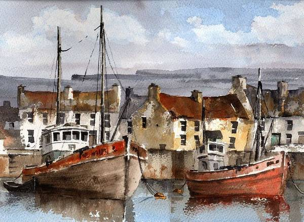 Painting - Innismore Harbour, Aran, Galway...01 by Val Byrne