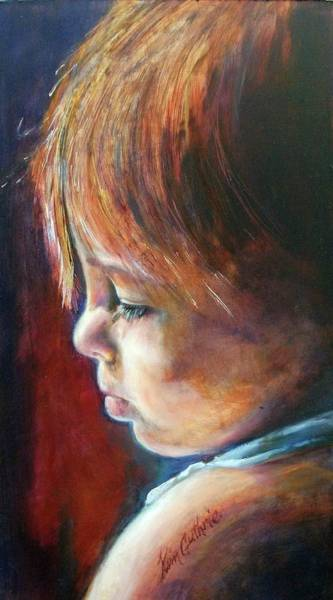 Priceless Painting - Innocence Portrait By Kim Guthrie Art by Kim Guthrie