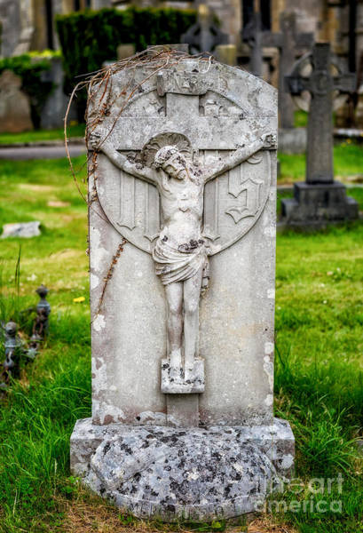 Tombstone Photograph - Inri Grave by Adrian Evans