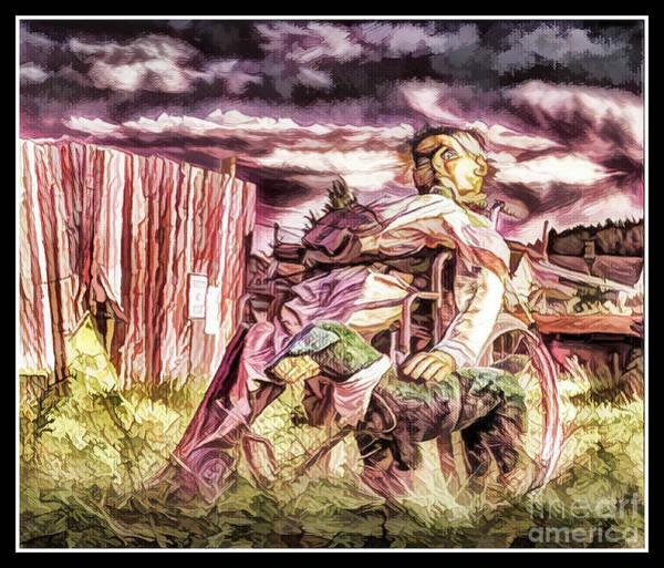 Photograph - Insanity-digital by Bitter Buffalo Photography