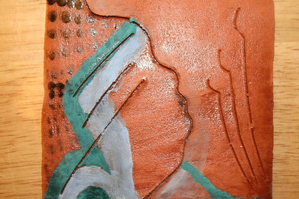 Ceramic Art - Inside - Tile by Gloria Ssali