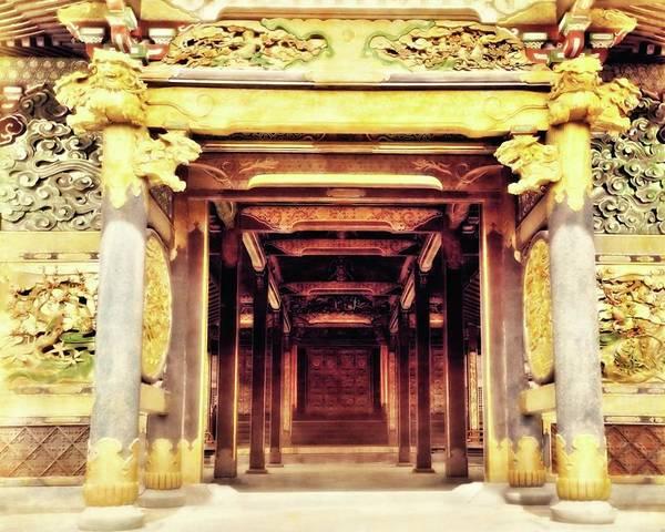 Photograph - Inside A Temple by John Feiser