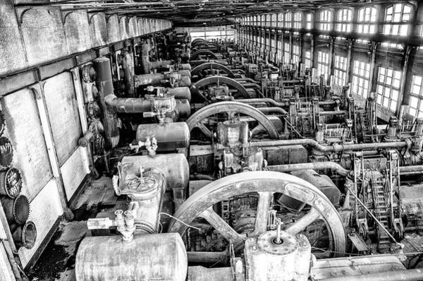 Photograph - Inside Bethlehem Steel In Black And White by Bill Cannon