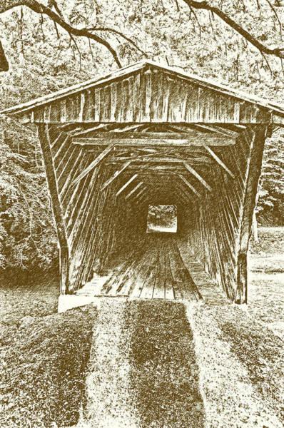 Walnut Mixed Media - Inside Bob White Bridge by Eric Liller