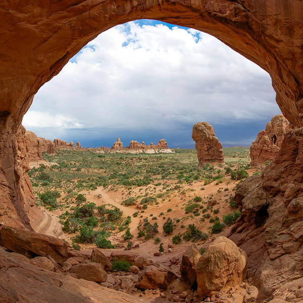 Photograph - Inside Double Arch by Aaron Spong