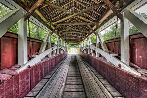 Somerset County Photograph - Inside Glessner Covered Bridge by Kenneth Keifer