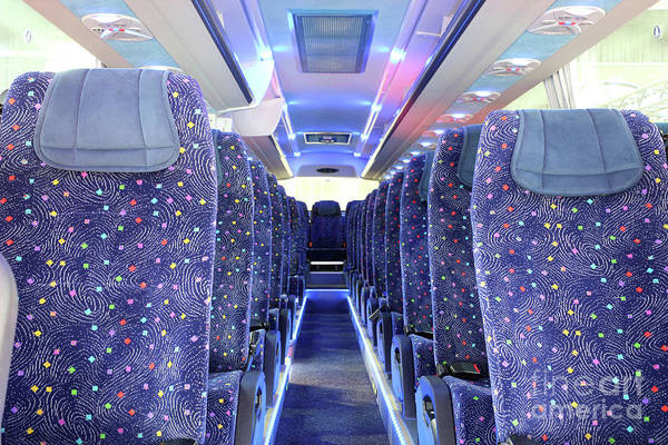 Autobus Photograph - Inside Of New Bus  by Goce Risteski