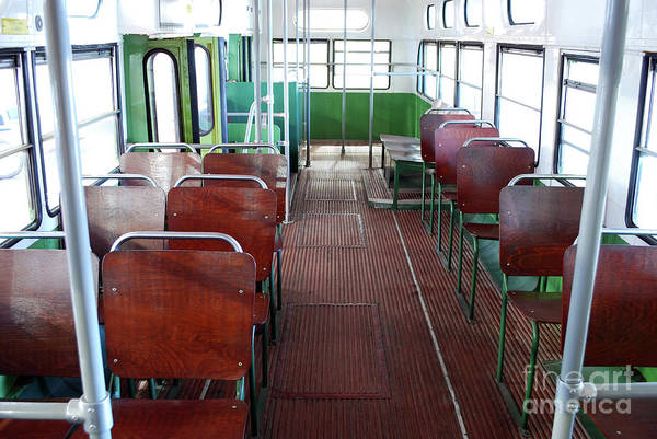 Autobus Photograph - Inside Of Old City Bus by Goce Risteski