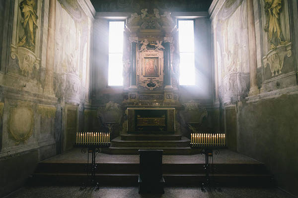 Photograph - Inside Of The Cathedral Of Santa Maria Assunta Of Parma. Emilia-romagna. Italy by Alexandre Rotenberg