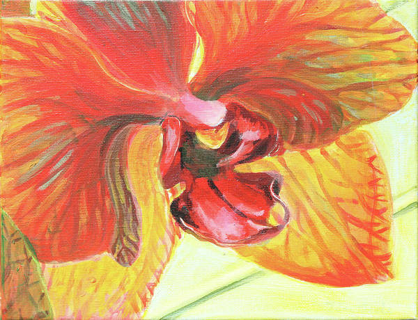 Painting - Inside Orchid by Trina Teele