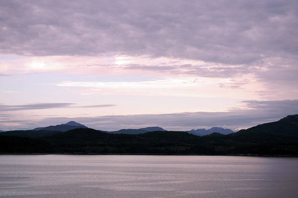 Photograph - Inside Passage Twilight Sunset by Connie Fox
