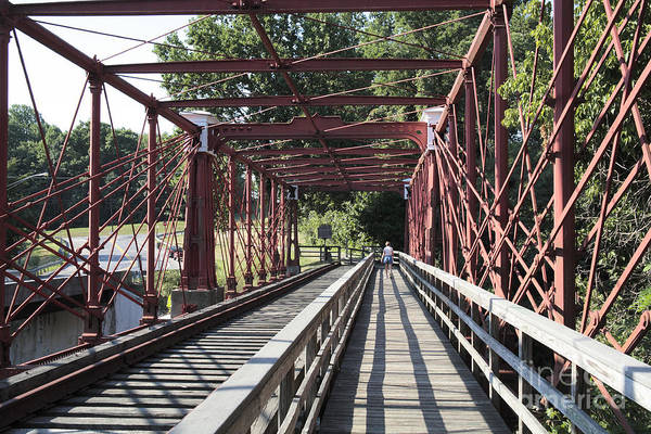 Photograph - Inside The Bollman Truss Bridge At Savage Maryland by William Kuta