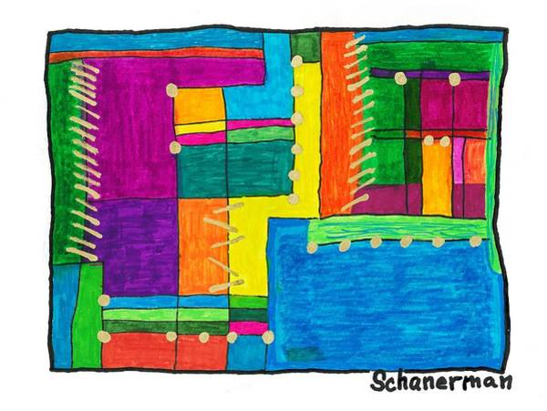 Drawing - Inside The Box by Susan Schanerman
