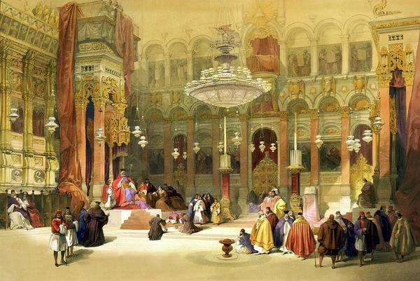 Israel Digital Art - Inside The Church Of The Holy Sepulchre by Munir Alawi