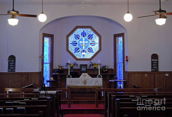 Photograph - Inside The Church Of The Mediator by D Hackett