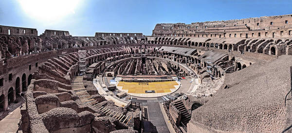 Photograph - Inside The Colosseum by S Paul Sahm