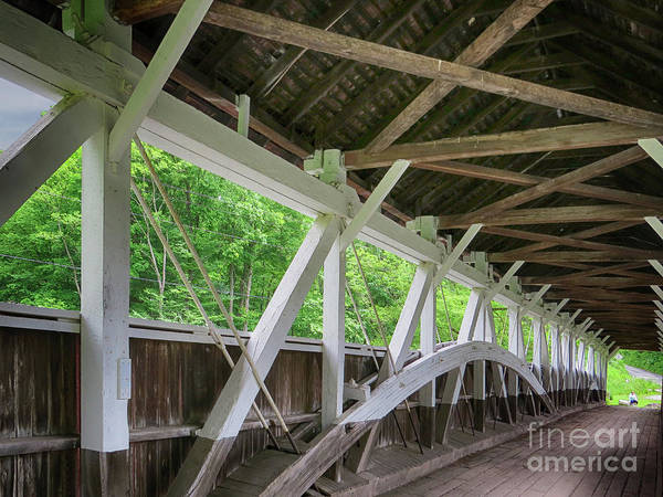 Somerset County Photograph - Inside The Covered Bridge by Dawn Gari