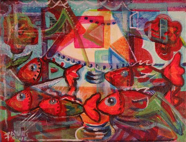 Painting - Inside The Fish Tank by Dennis Tawes