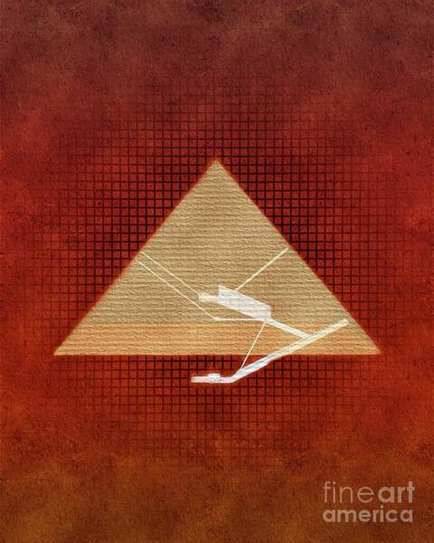 Wall Art - Painting - Inside The Great Pyramid Of Giza by Pierre Blanchard