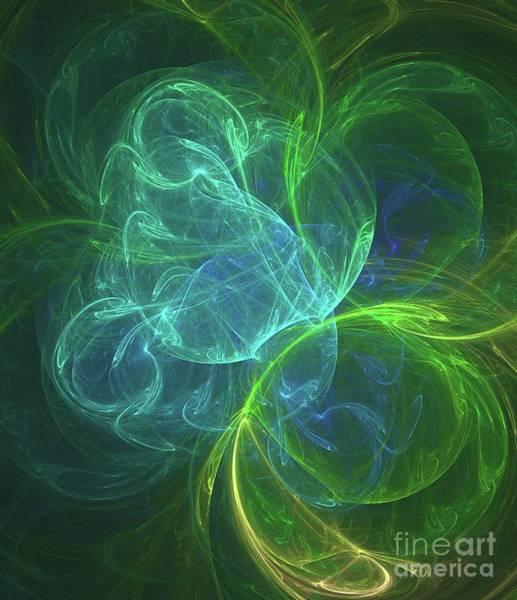 Fibonacci Spiral Digital Art - Inside The Nebula by Raphael Terra