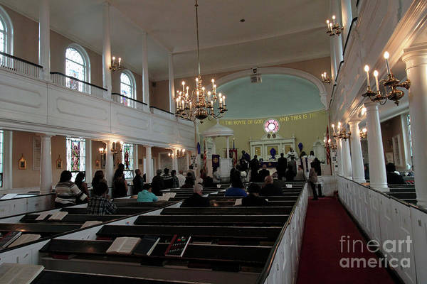 Photograph - Inside The S. Georges Church Episcopal Anglican by Steven Spak