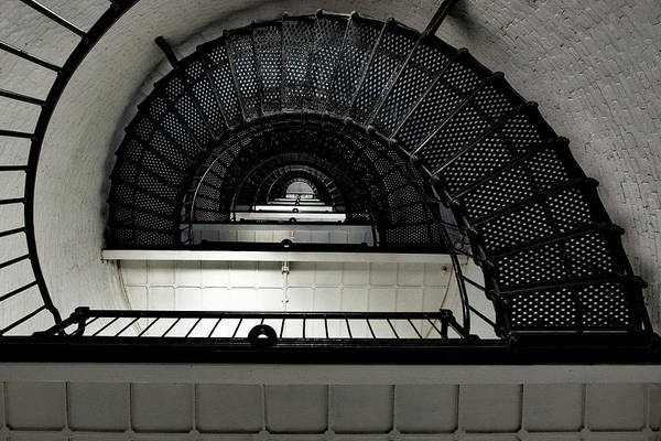 Flagler Photograph - Inside The St. Augustine Lighthouse, Florida by Mitch Spence