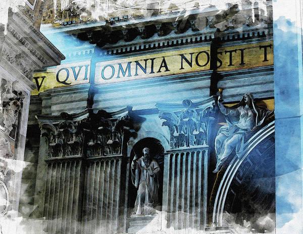 Wall Art - Digital Art - Inside The Vatican by Diana Van