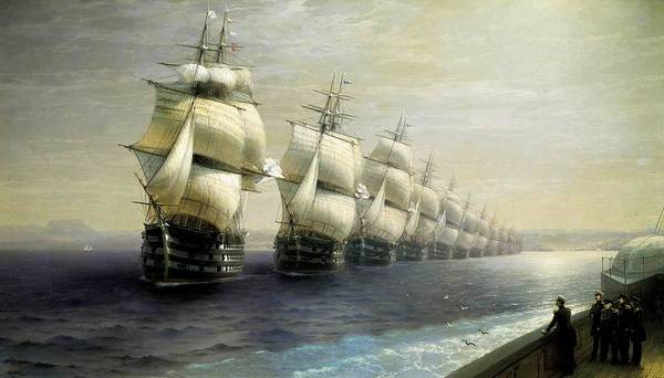 I Dream Painting - Inspection Of The Black Sea Fleet - Emperor Nicholas I by Mountain Dreams