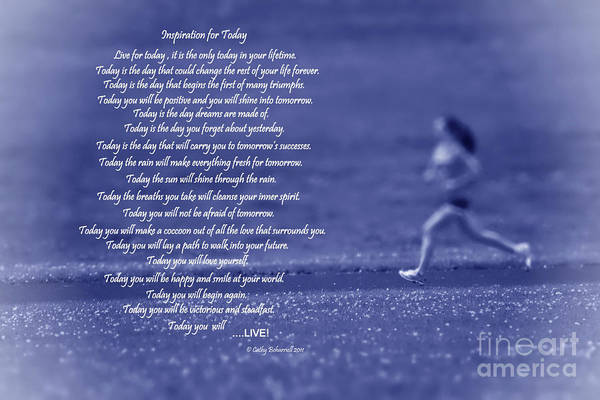 Digital Art - Inspiration For Today Runner  by Cathy Beharriell