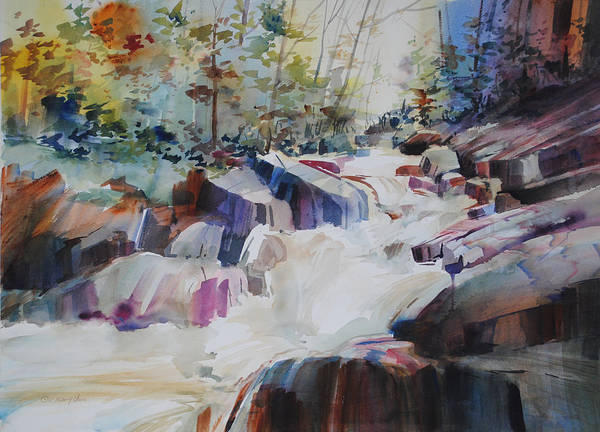 Waterway Painting - Inspiration Point by P Anthony Visco