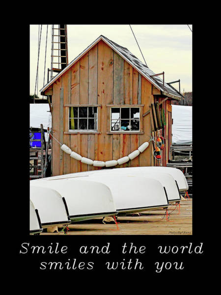 Photograph - Inspirational- The World Smiles With You by Brian Pflanz